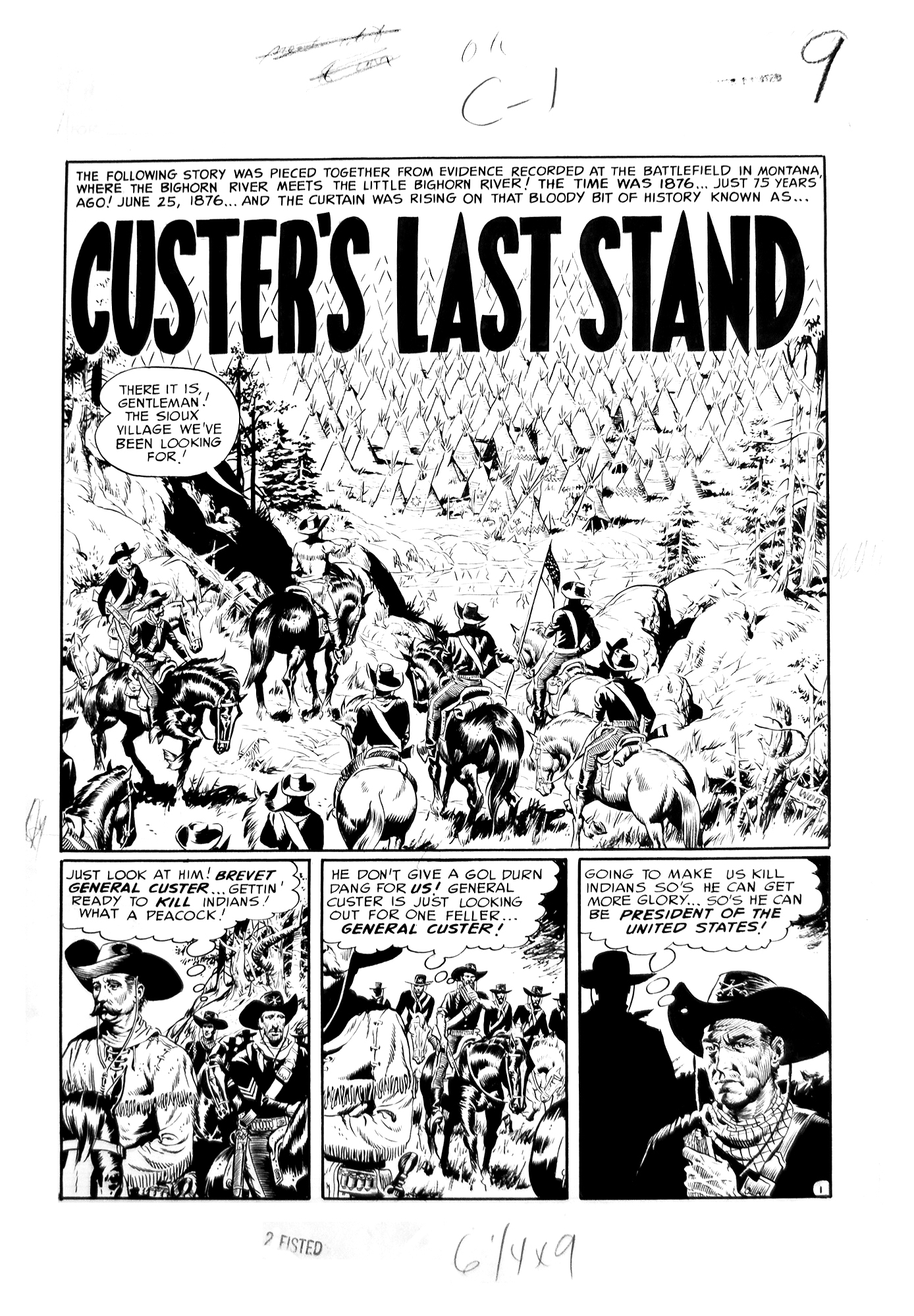 Custer's last stand from Two Fisted Tales N°27-1952