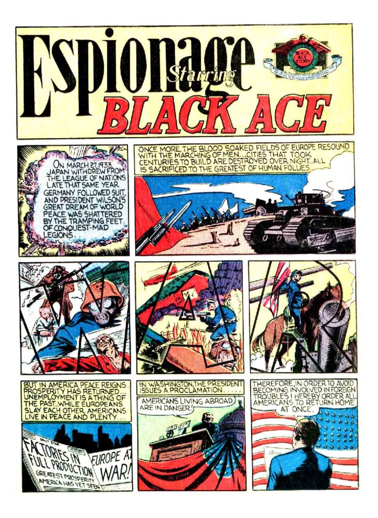 1Espionnage Staring black Ace Smash Comics 3 1