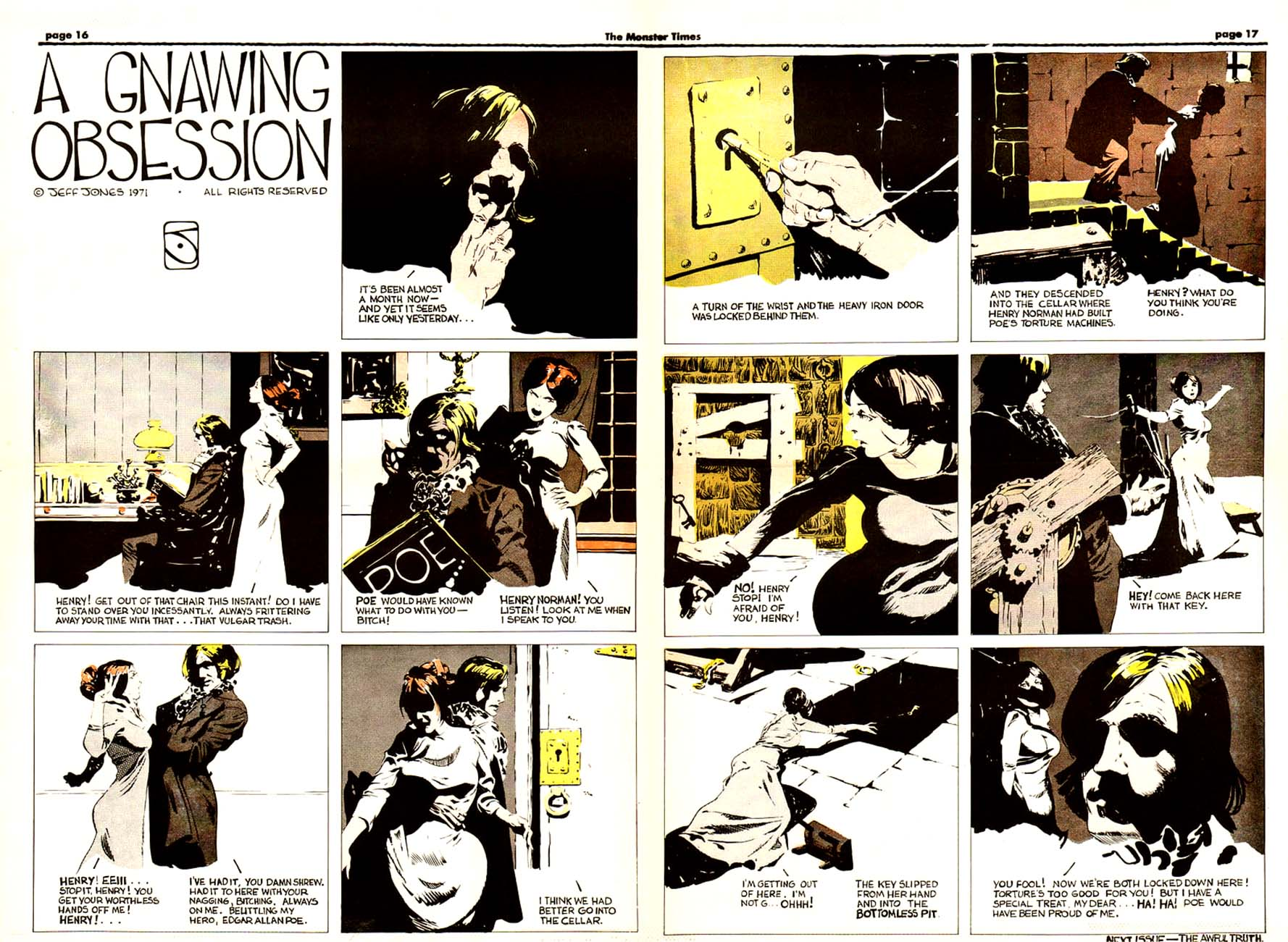 A Gnawing Obsession, from The Monster Times #4-5 1972