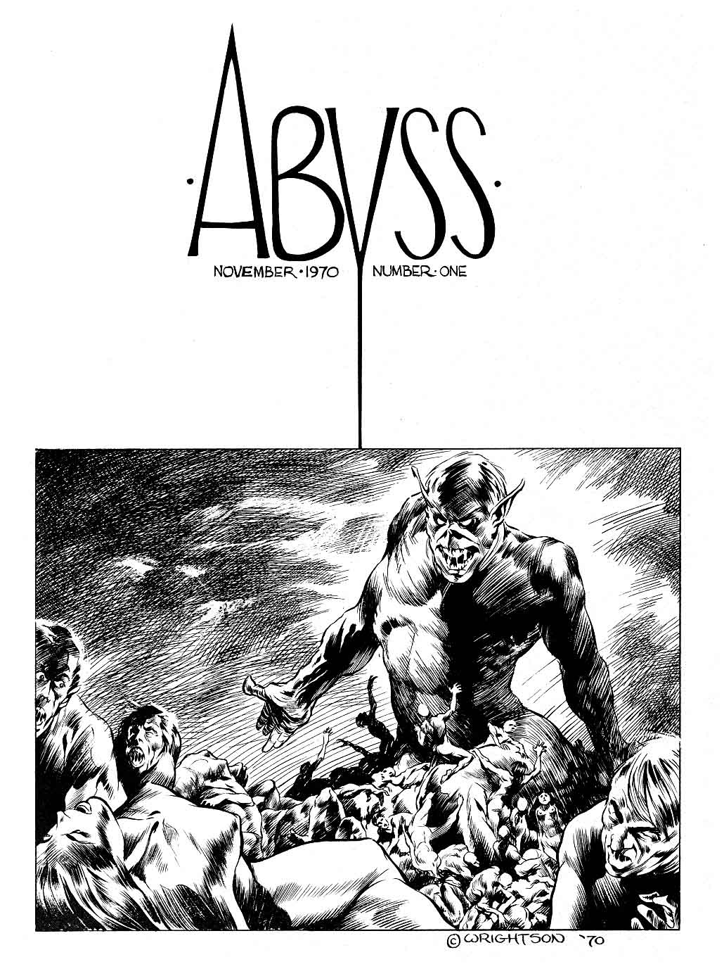 Abyss November 1970 Number One by Bernie Wrightson