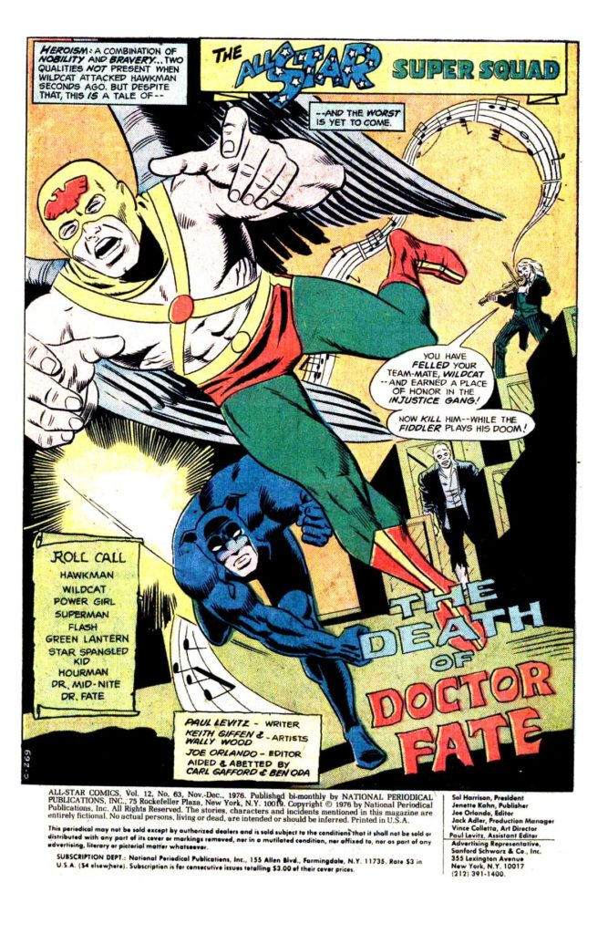 All Star comics 63 The death of doctor Fate 2