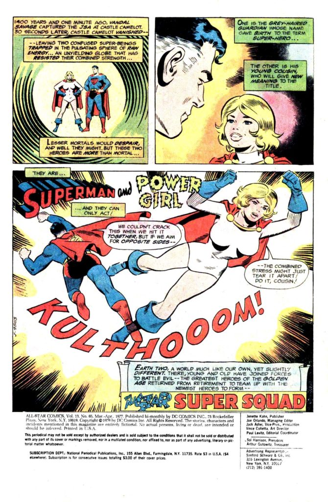 All Star comics 65 Superman and Power Girl 2
