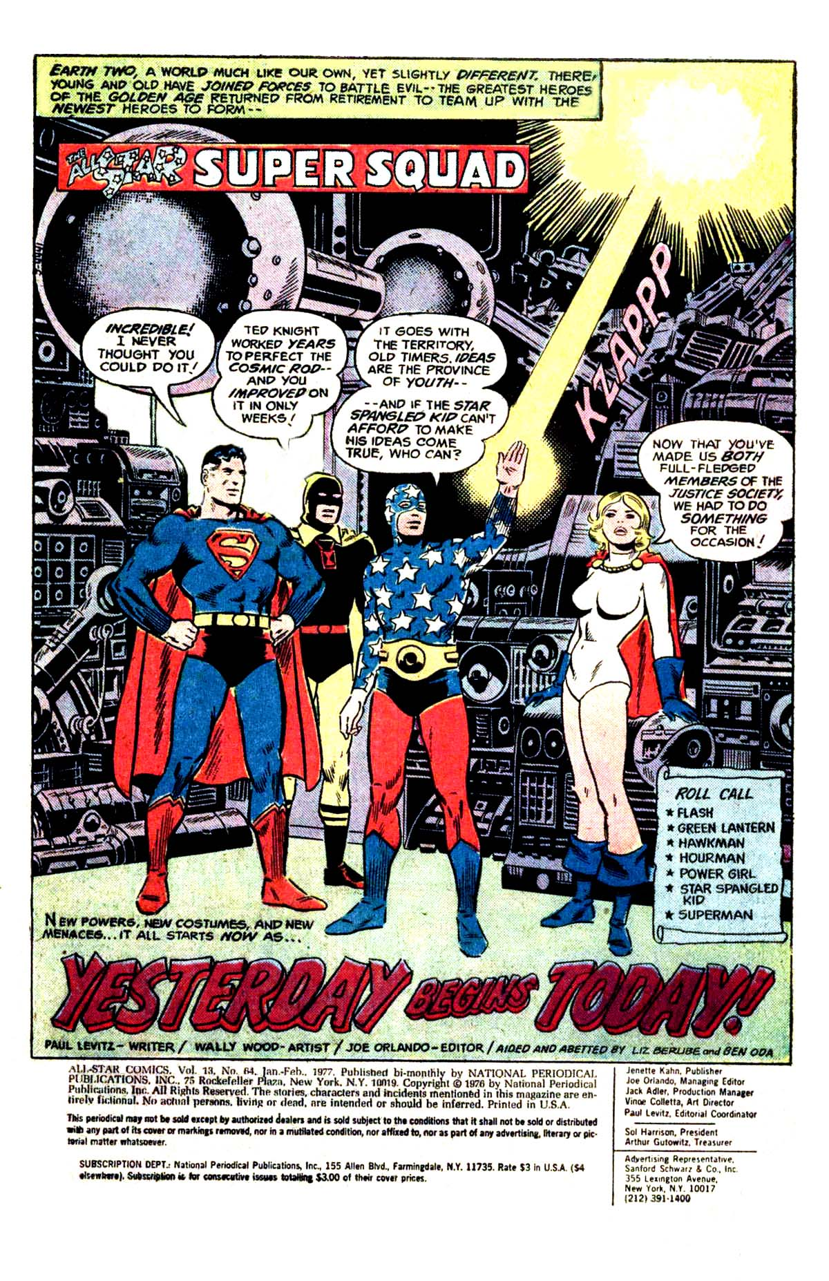 Wood – All Star comics – Yesterday begins Today
