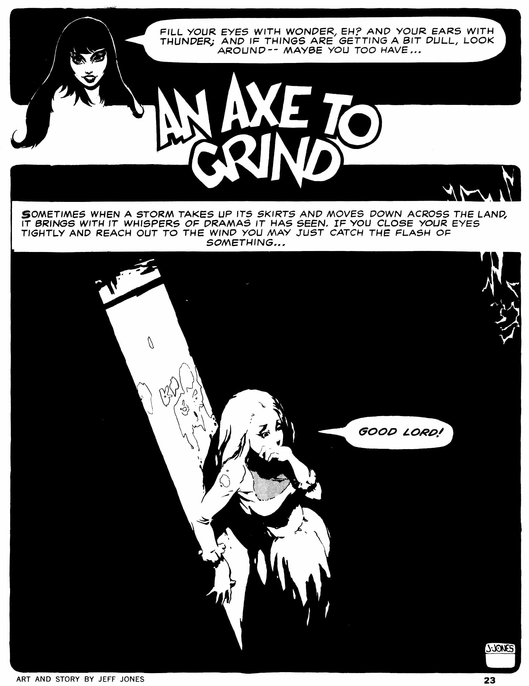 An Axe to Grind From Vampirella #5 (June 1970)