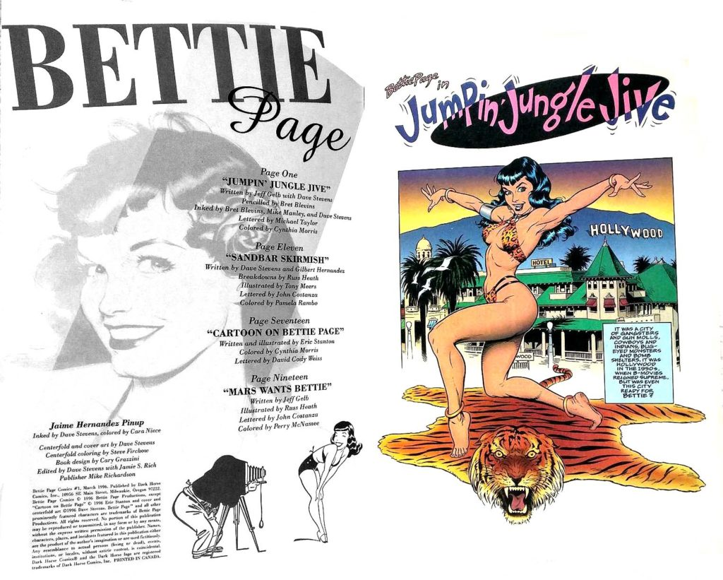 Bettie Page Comics 1 page 0 Dark Horse 1996