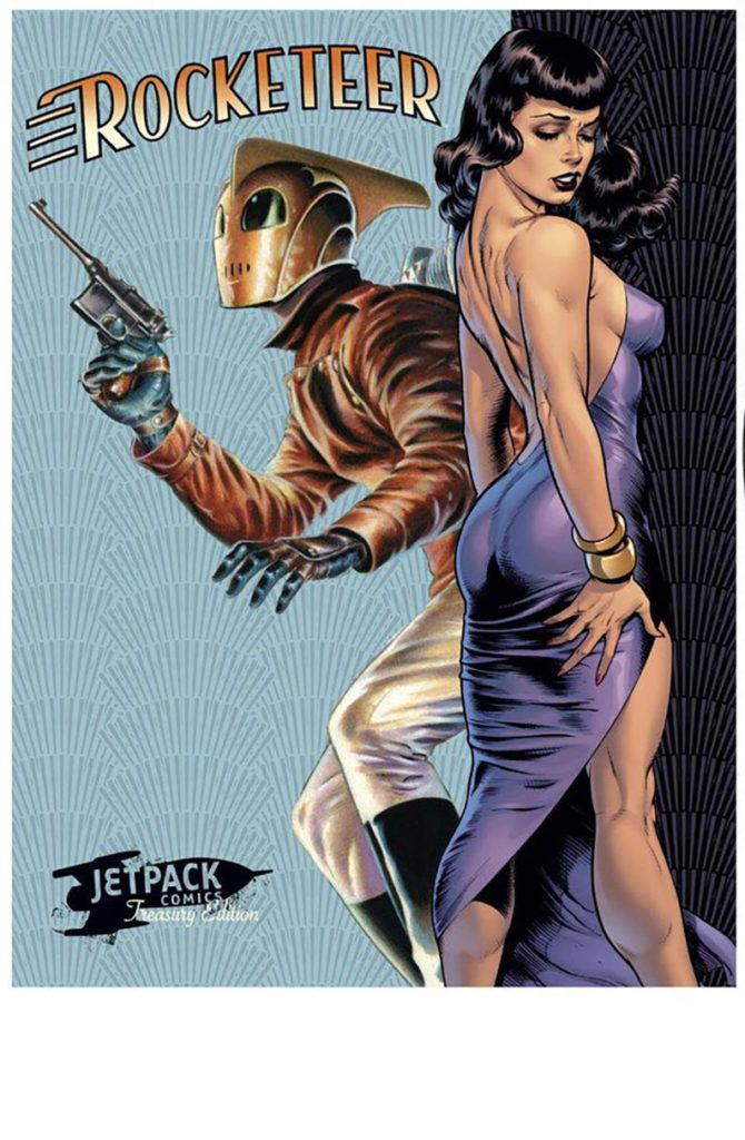 Bettie Page and The Rocketeer 1a