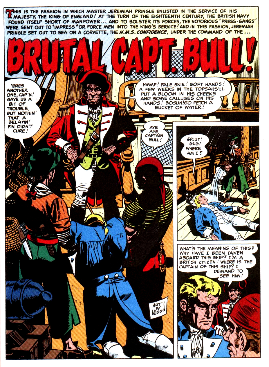 Brutal Capt. Bull ! from Two Fisted Tales 19