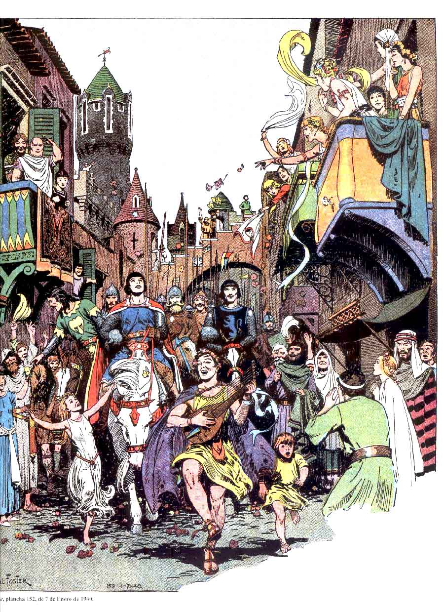Prince Valiant Planches 1940 -1941