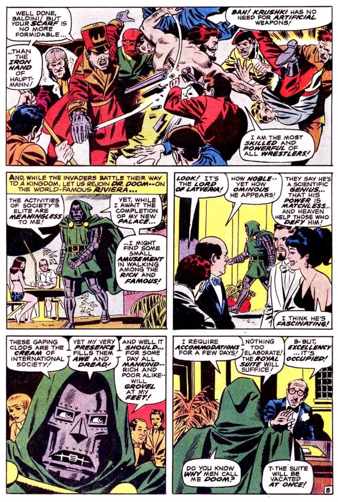 Doctor Doom Master of menace The Invaders 5