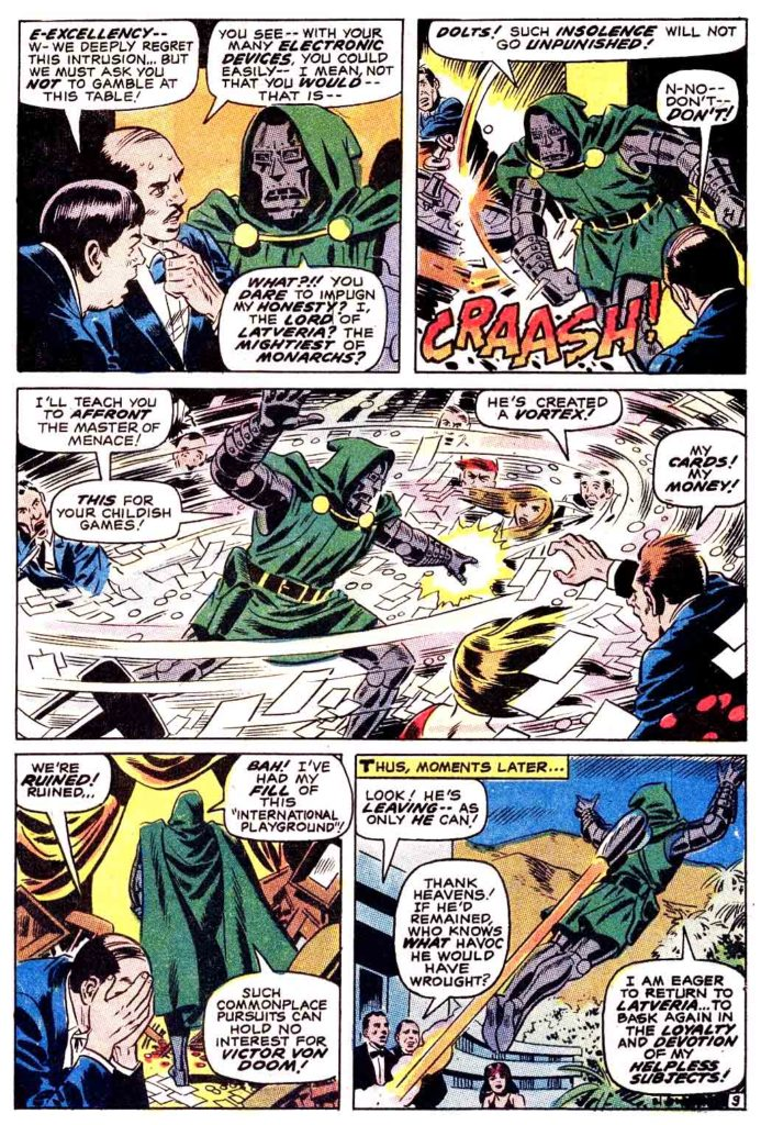 Doctor Doom Master of menace The Invaders 9