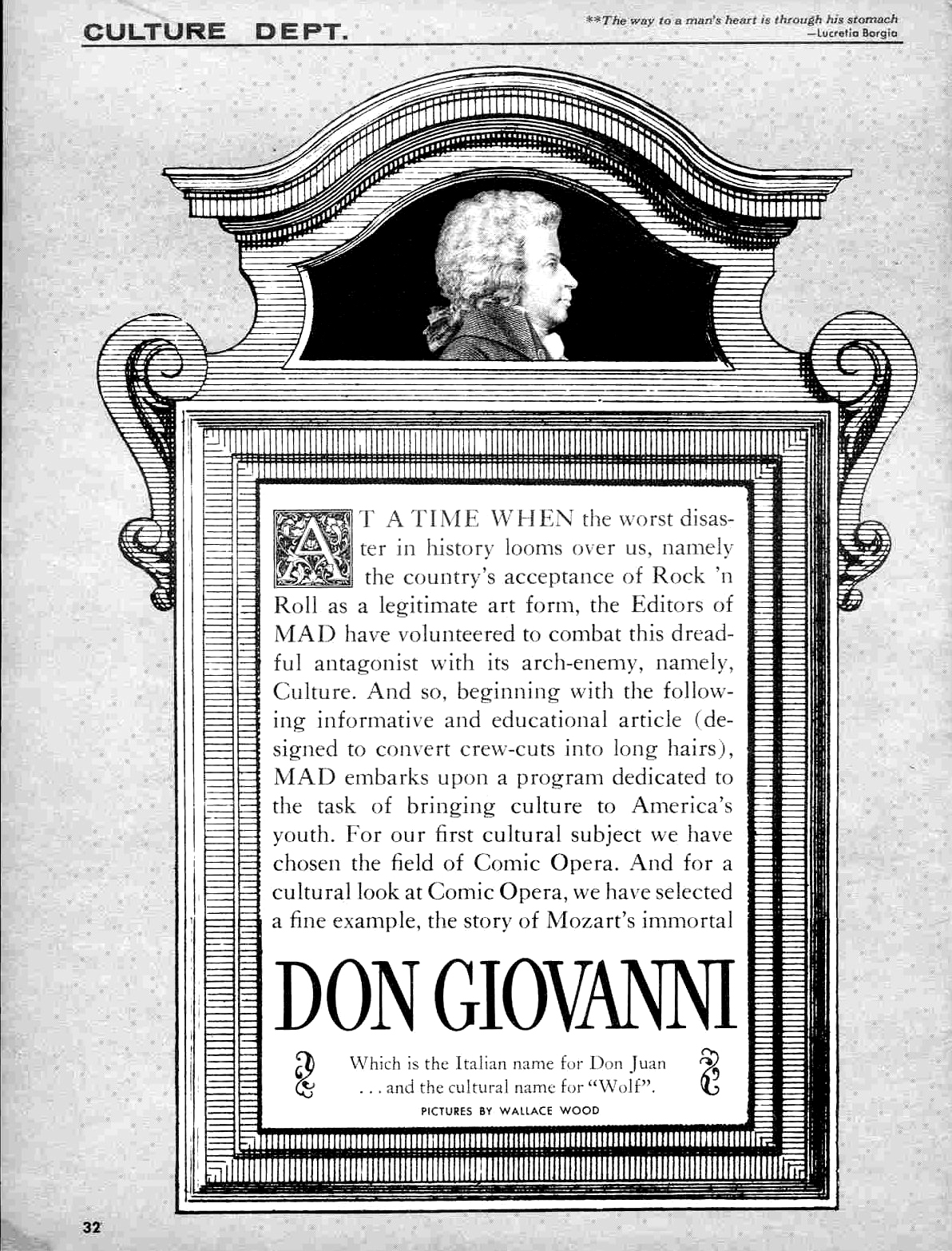 Don Giovanni – Wally Wood MAD Magazine N°31 1957