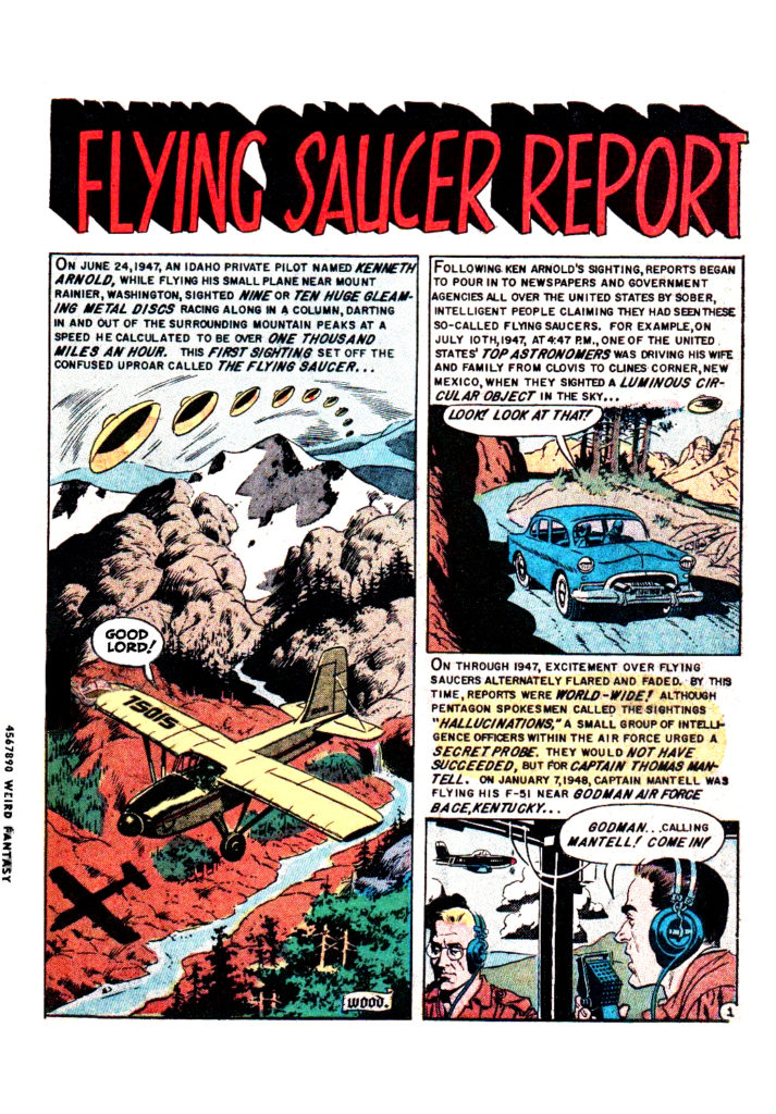 Flying saucer report Weird Science Fantasy 25 1