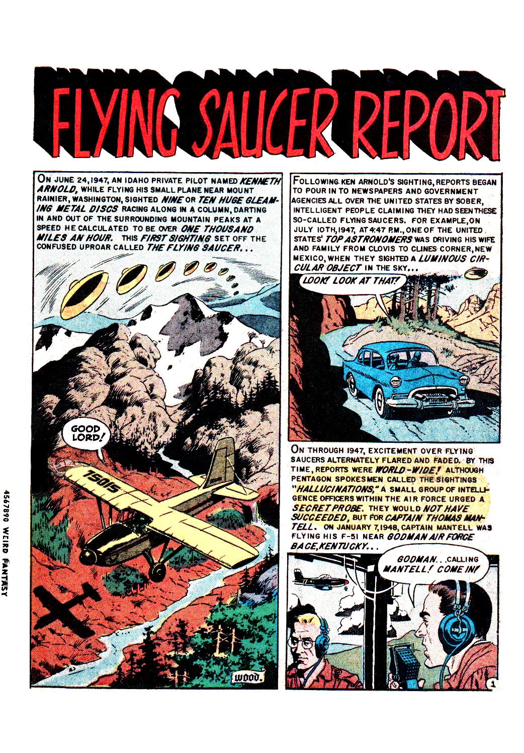 Flying saucer report – Weird Science-Fantasy #25  Wallace Wood