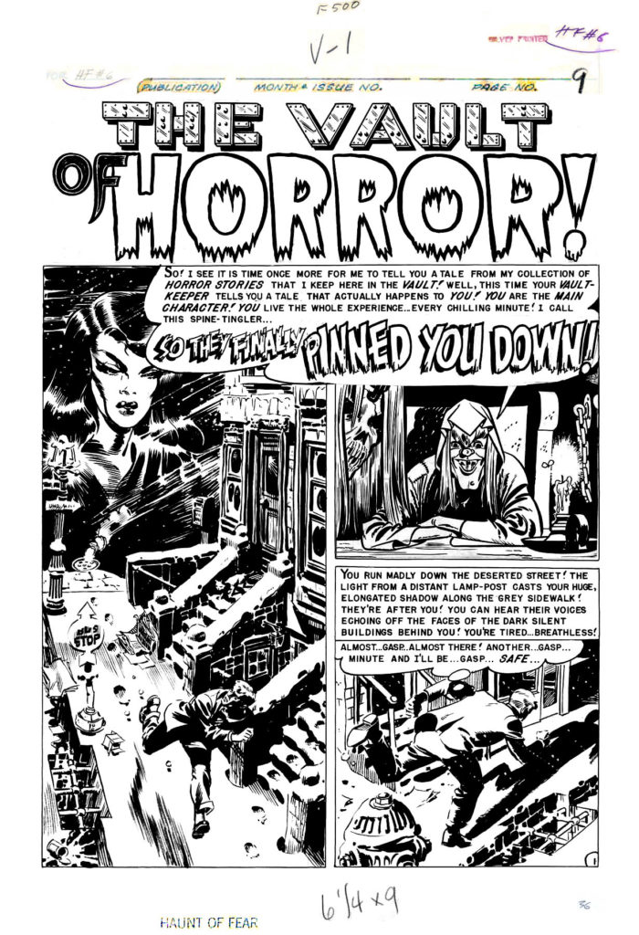 Haunt of Fear 6 So They Finally Pinned You Down P 01 1951 1