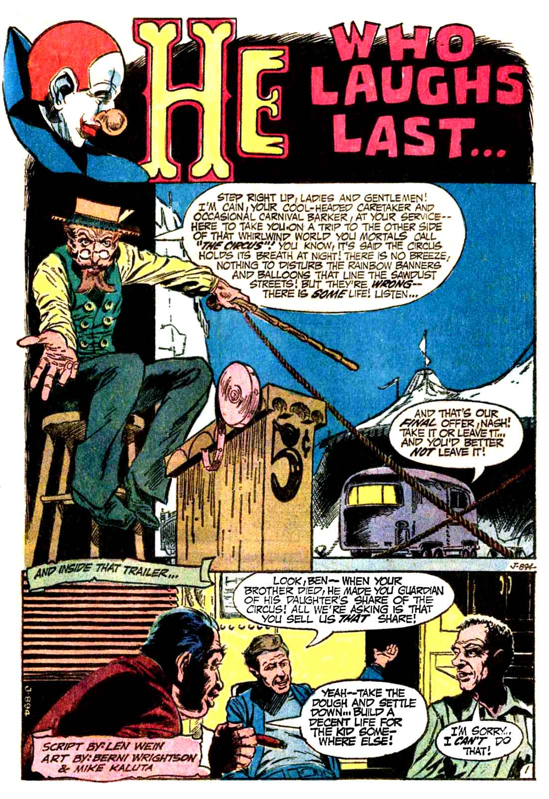 He Who Laughs Last  from House of Mystery #221