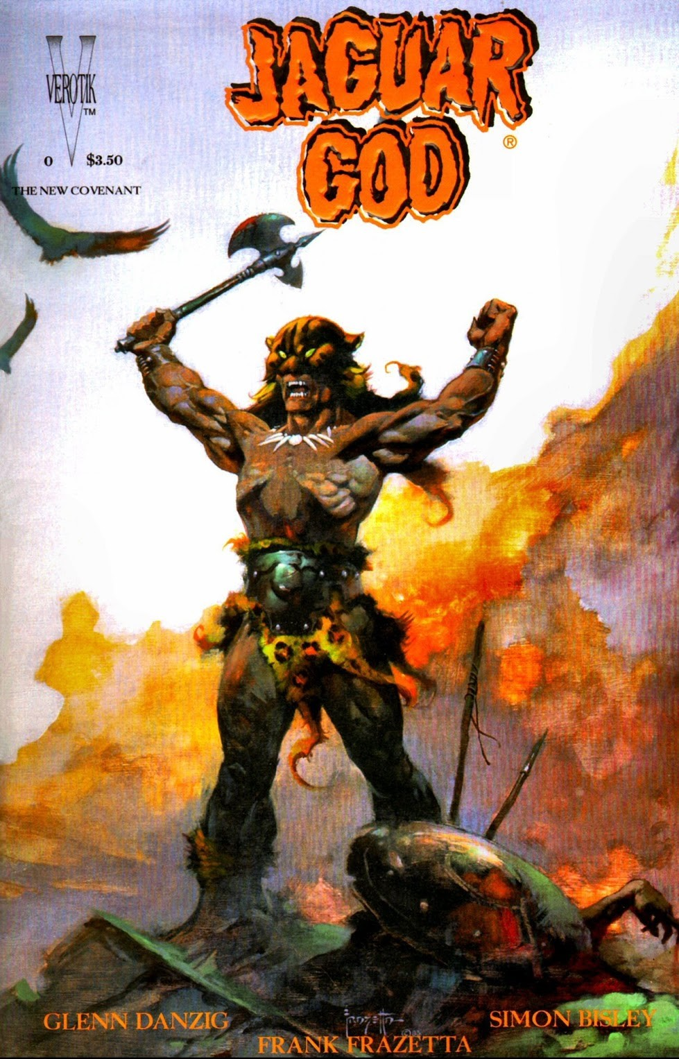 Jaguar God comic Planches Frazetta & Bisley