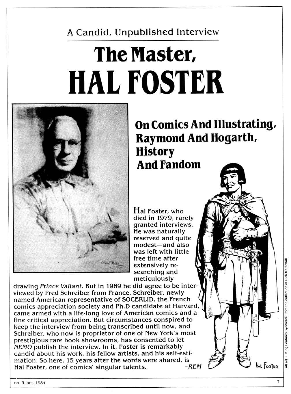 The Hal Foster Interview 1969