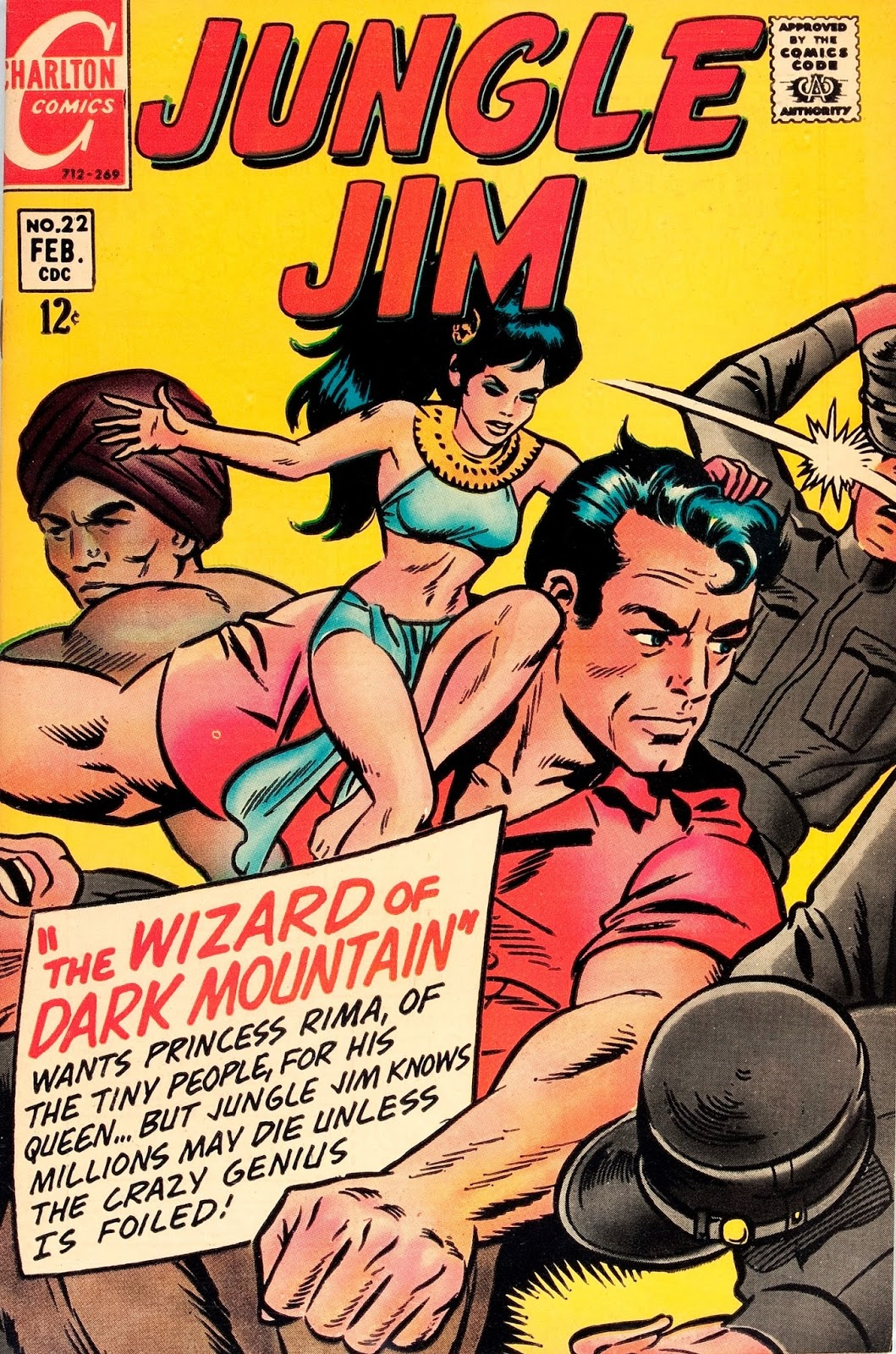 Jungle Jim #22 The witch doctor of borges island & The Wizard of Dark Mountain