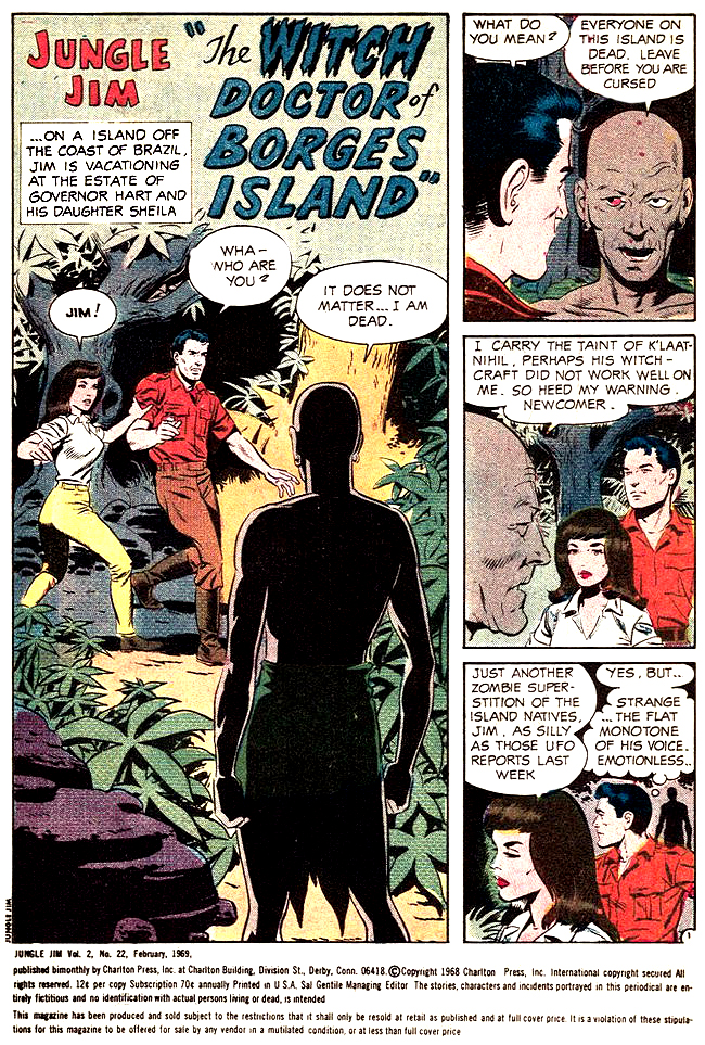 Jungle Jim 22 The witch doctor of borges island 1