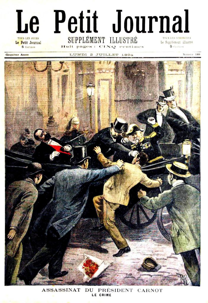 Le petit journal illustre 1894 assassinat carnot