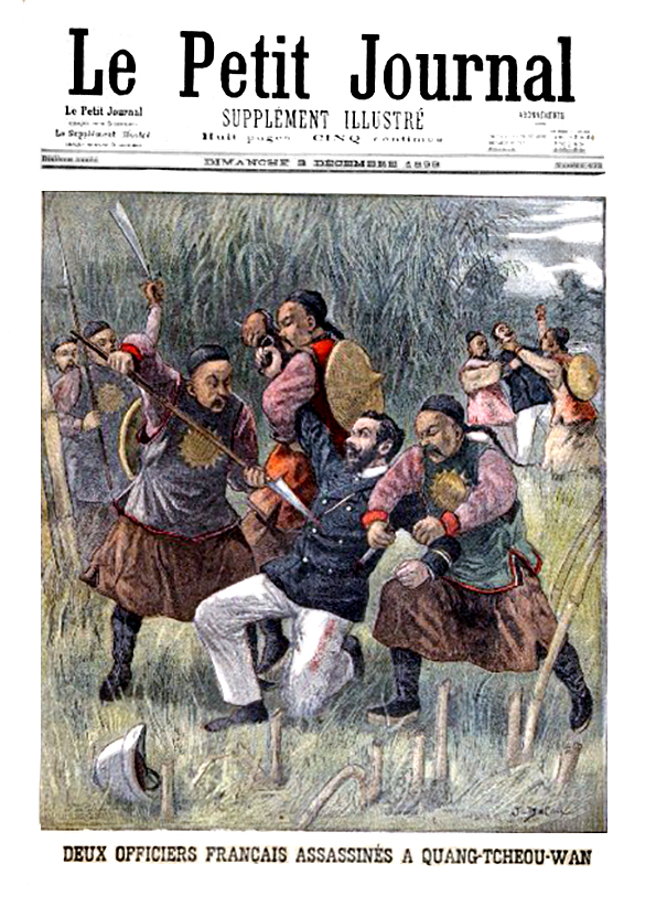 Le petit journal illustre 1899 N°432 Deux officiers Francais assassines a Quang Tcheou Wan