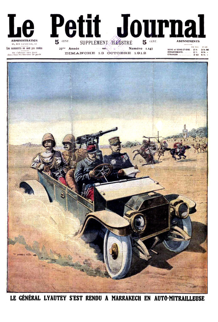 Le petit journal illustre 1912 Lyautey reaches Marrakesh in armored car