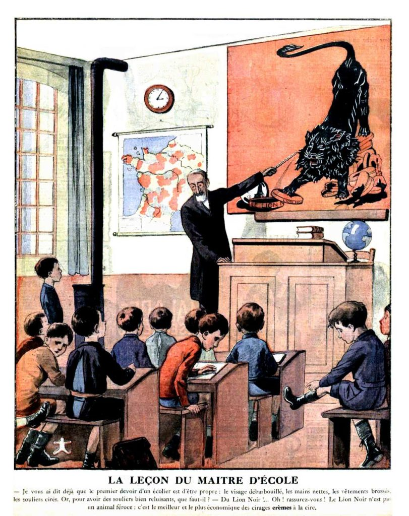 Le petit journal illustre la lecon du maitre decole