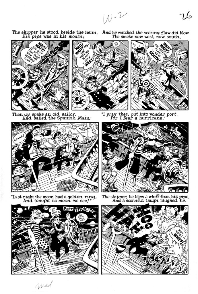 Mad 16 Complete 7 page 02 Story Wreck of The Hesperus Original Art EC 1954.2
