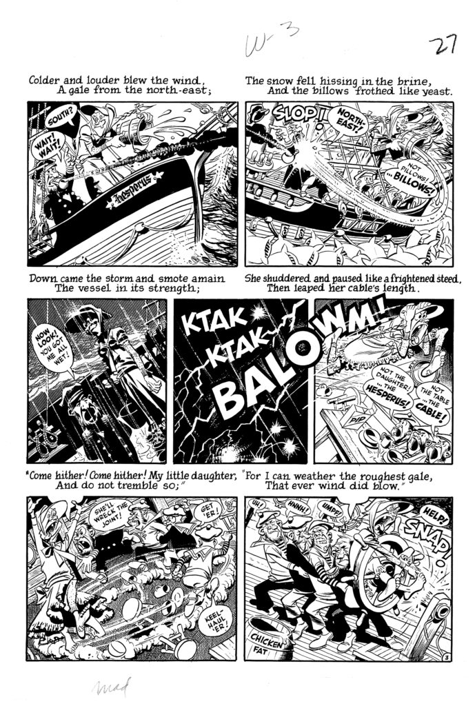 Mad 16 Complete 7 page 03 Story Wreck of The Hesperus Original Art EC 1954.3