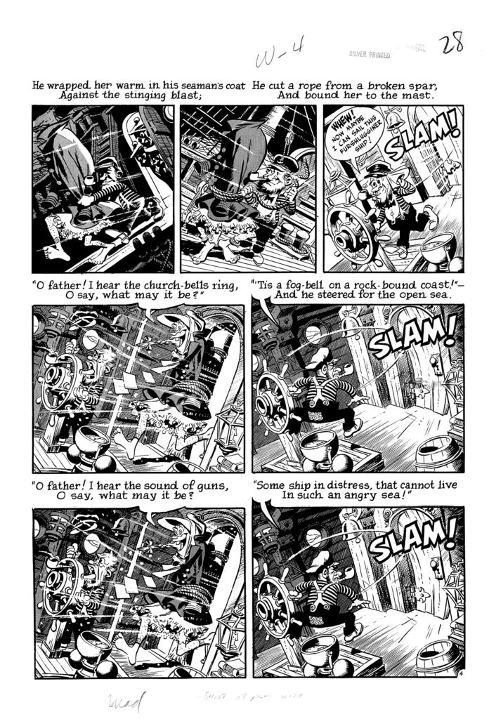 Mad 16 Complete 7 page 04 Story Wreck of The Hesperus Original Art EC 1954.4