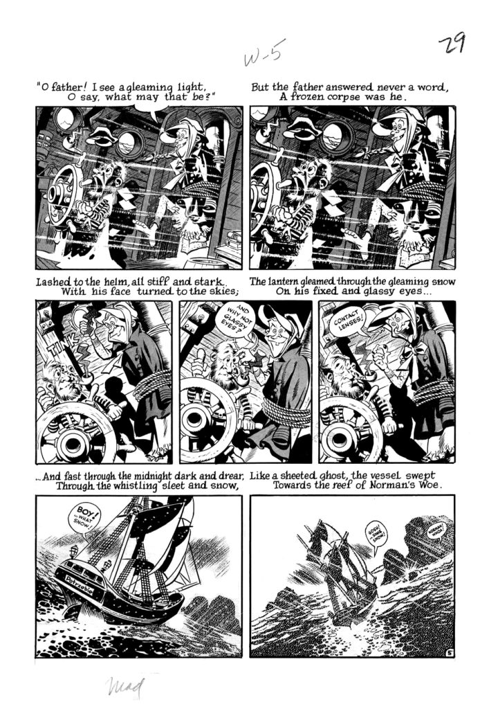 Mad 16 Complete 7 page 05 Story Wreck of The Hesperus Original Art EC 1954.3
