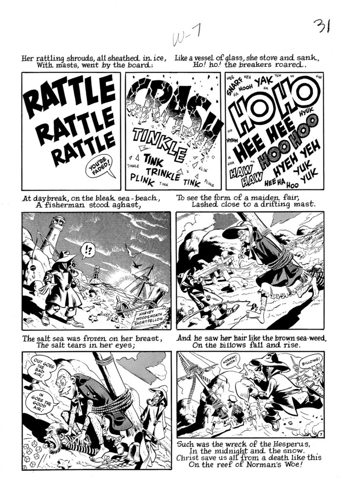 Mad 16 Complete 7 page 07 Story Wreck of The Hesperus Original Art EC 1954.5