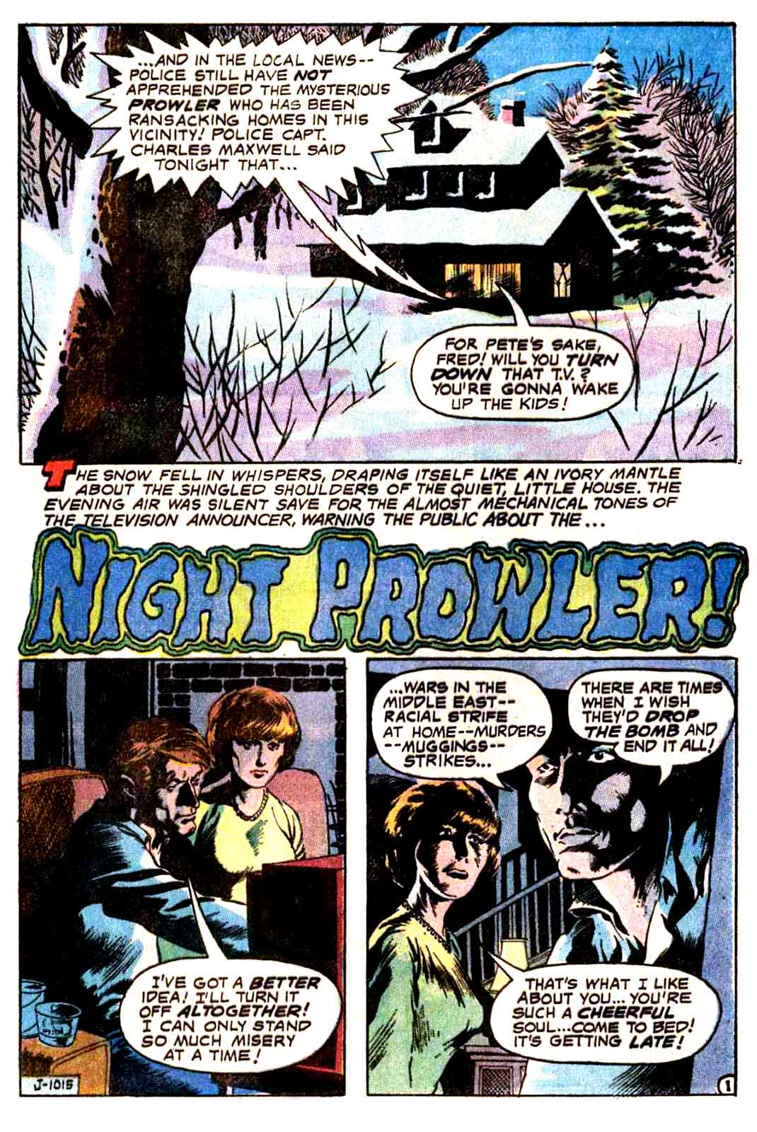Night Prowler from The House Of Mystery #191 April, 1971