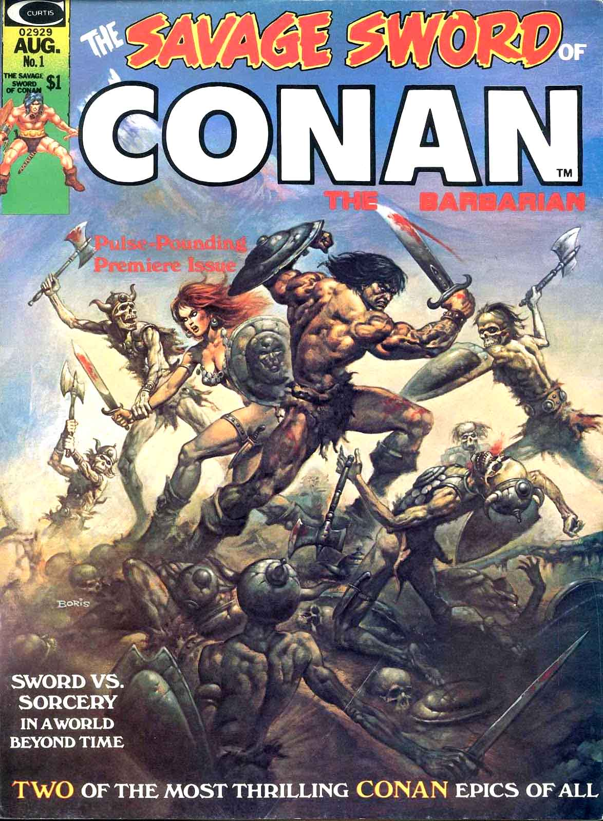 The Savage Sword of Conan by Boris Valejo 1975