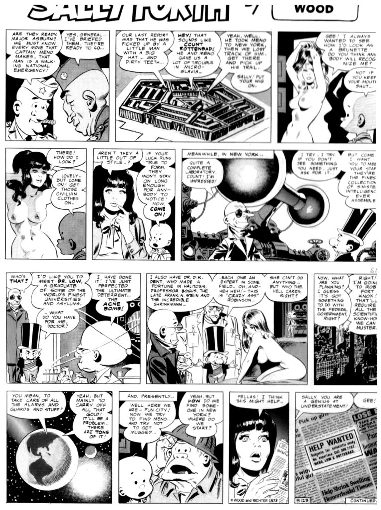 Sally Forth Comic Strip S123 Original Art Wood and Richter 1973