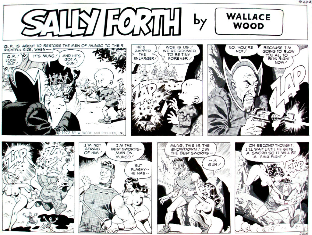 Sally Forth Comic Strip S22A Original Art Wood and Richter 1972....