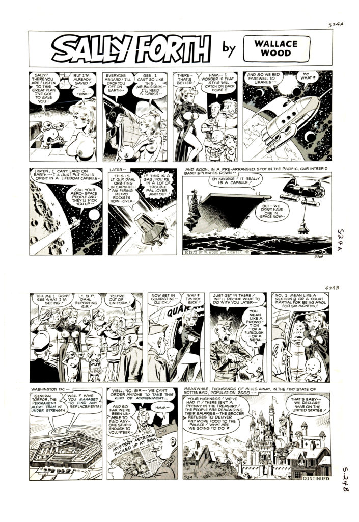 Sally Forth Comic Strip S24 Original Art Wood and Richter 1972....
