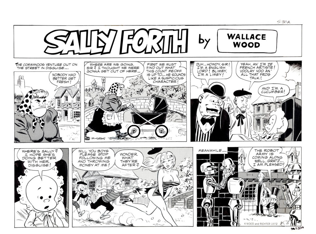 Sally Forth Comic Strip S30A Original Art Wood and Richter 1972.2