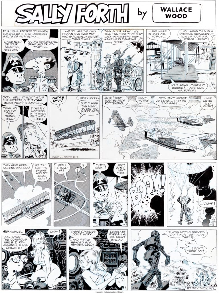 Sally Forth Comic Strip S38 Original Art Wood and Richter 1972.... 1