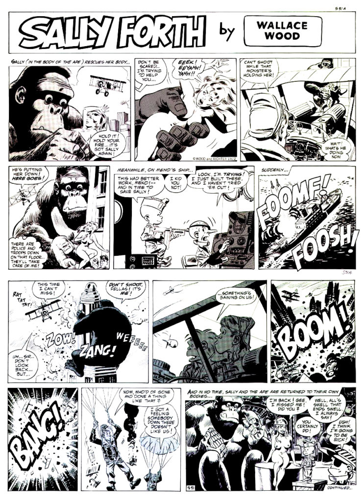 Sally Forth Comic Strip S51 Original Art Wood and Richter 1972....