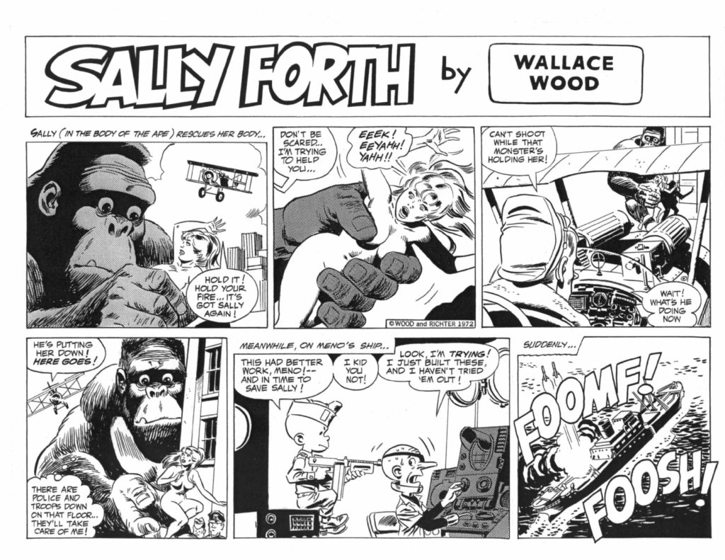 Sally Forth Comic Strip S51A Original Art Wood and Richter 1972....