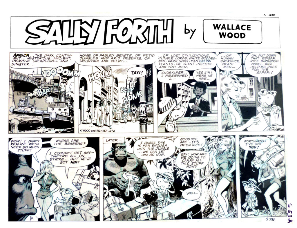 Sally Forth Comic Strip S53A Original Art Wood and Richter 1972....