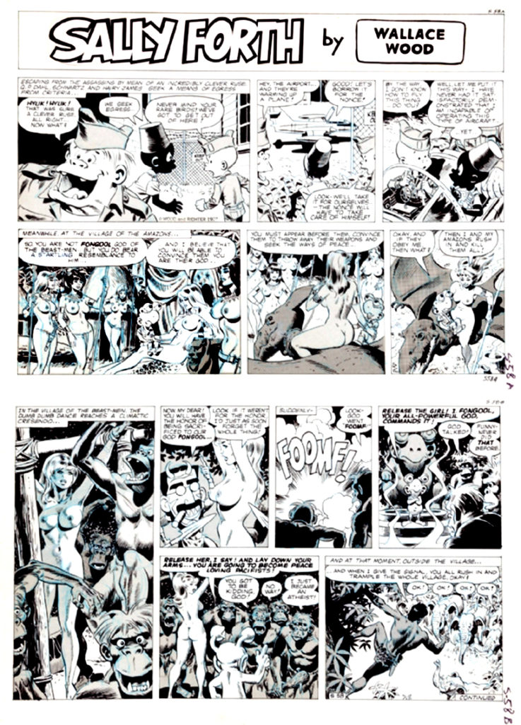 Sally Forth Comic Strip S58 AB Original Art Wood and Richter 1972....