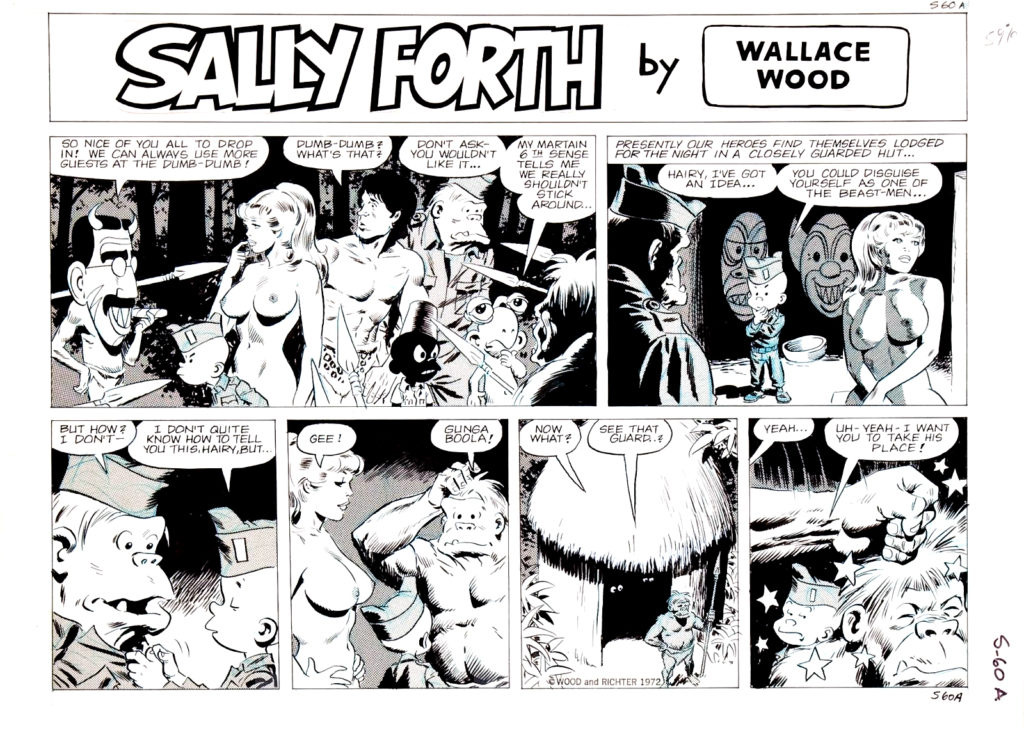 Sally Forth Comic Strip S60A Original Art Wood and Richter 1972....