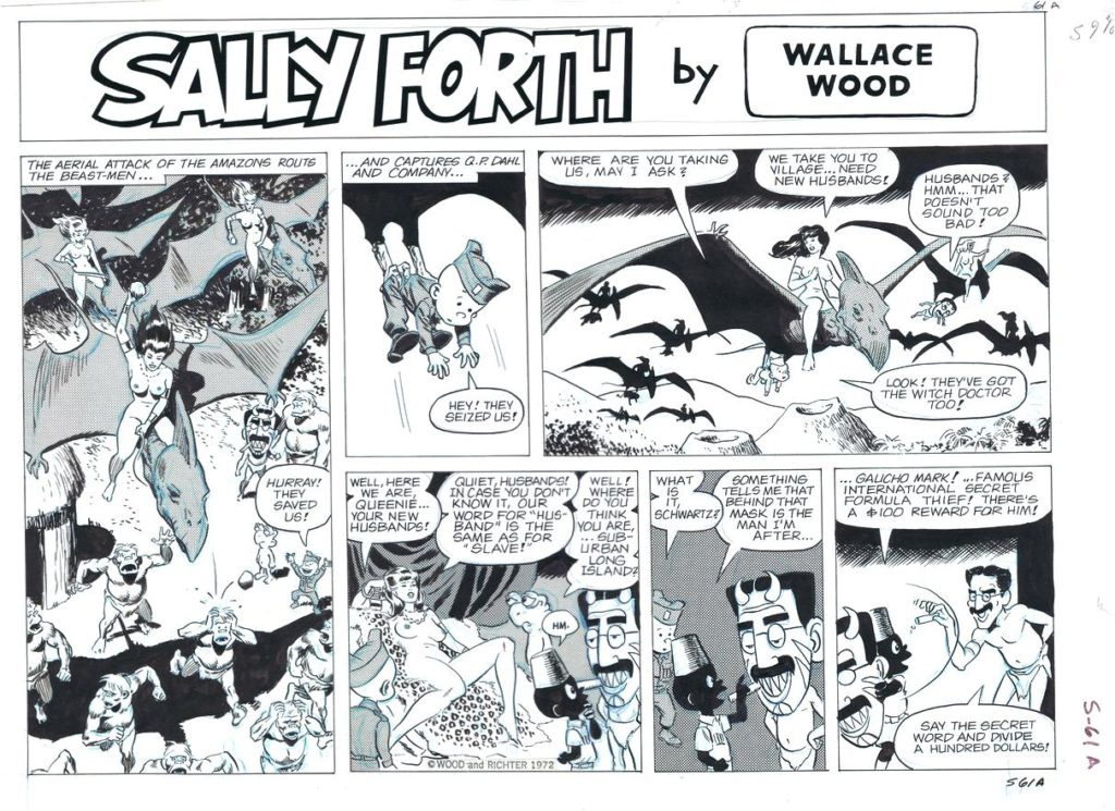 Sally Forth Comic Strip S61A Original Art Wood and Richter 1972....