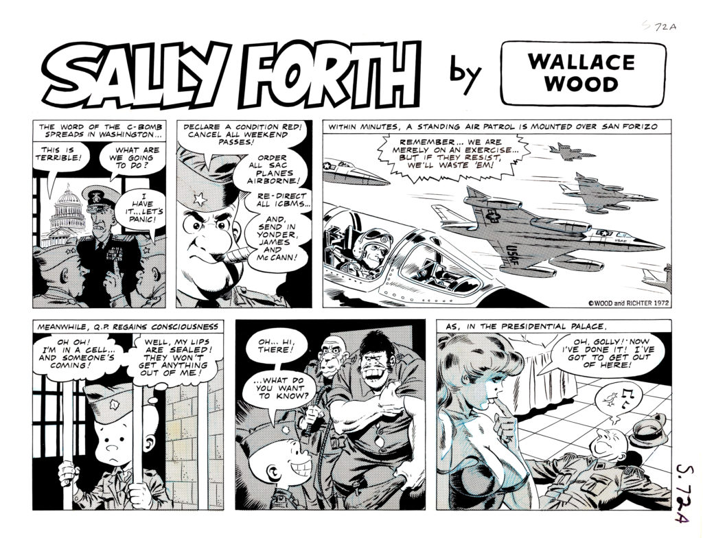 Sally Forth Comic Strip S72 ABa Original Art Wood and Richter 1972