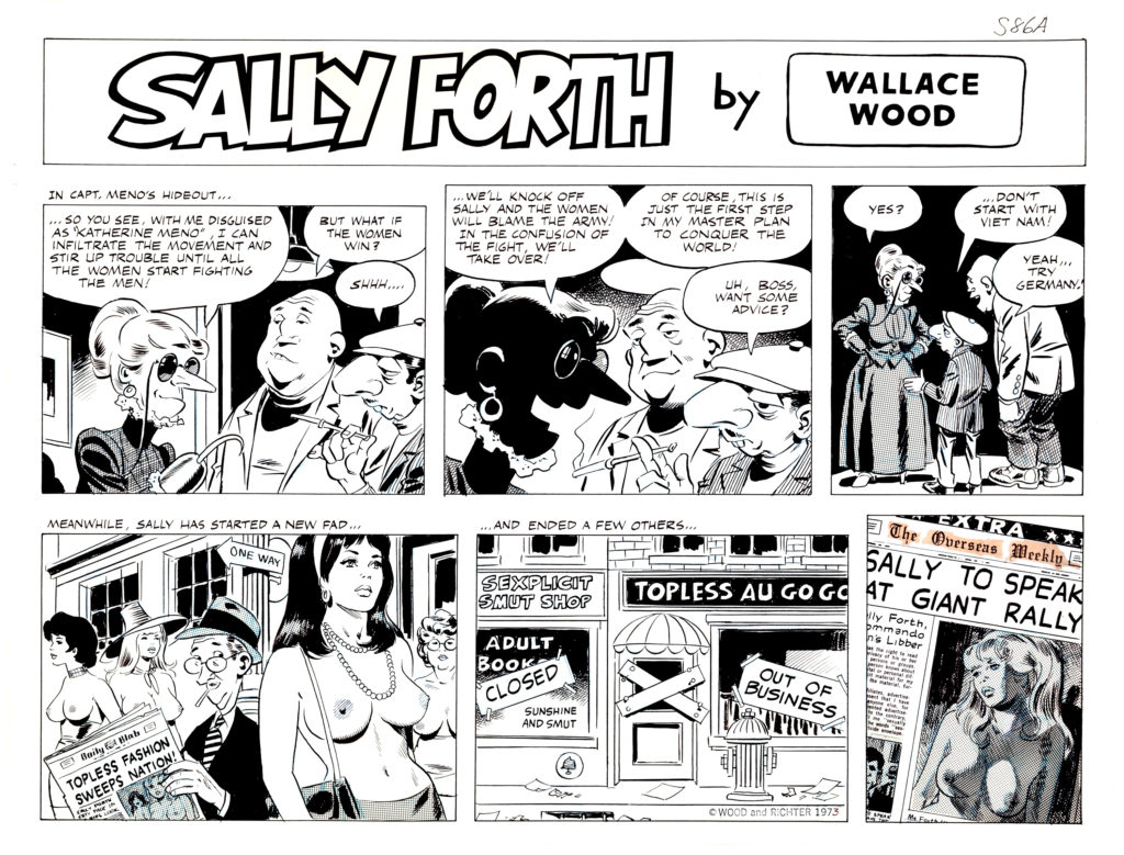 Sally Forth Comic Strip S86A Original Art Wood and Richter 1973.2
