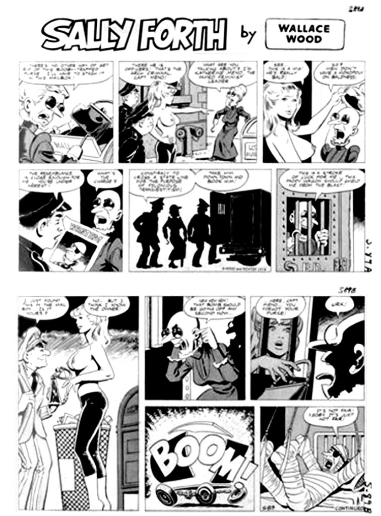Sally Forth Comic Strip S89 Original Art Wood and Richter 1973....