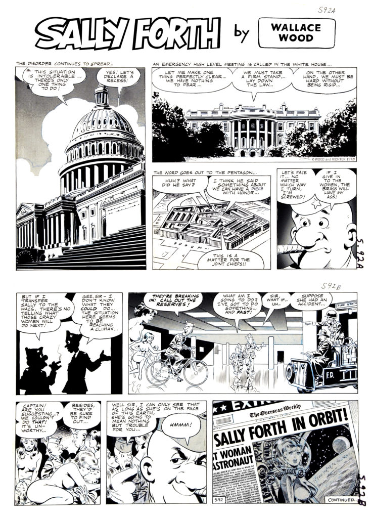 Sally Forth Comic Strip S92 Original Art Wood and Richter 1973..