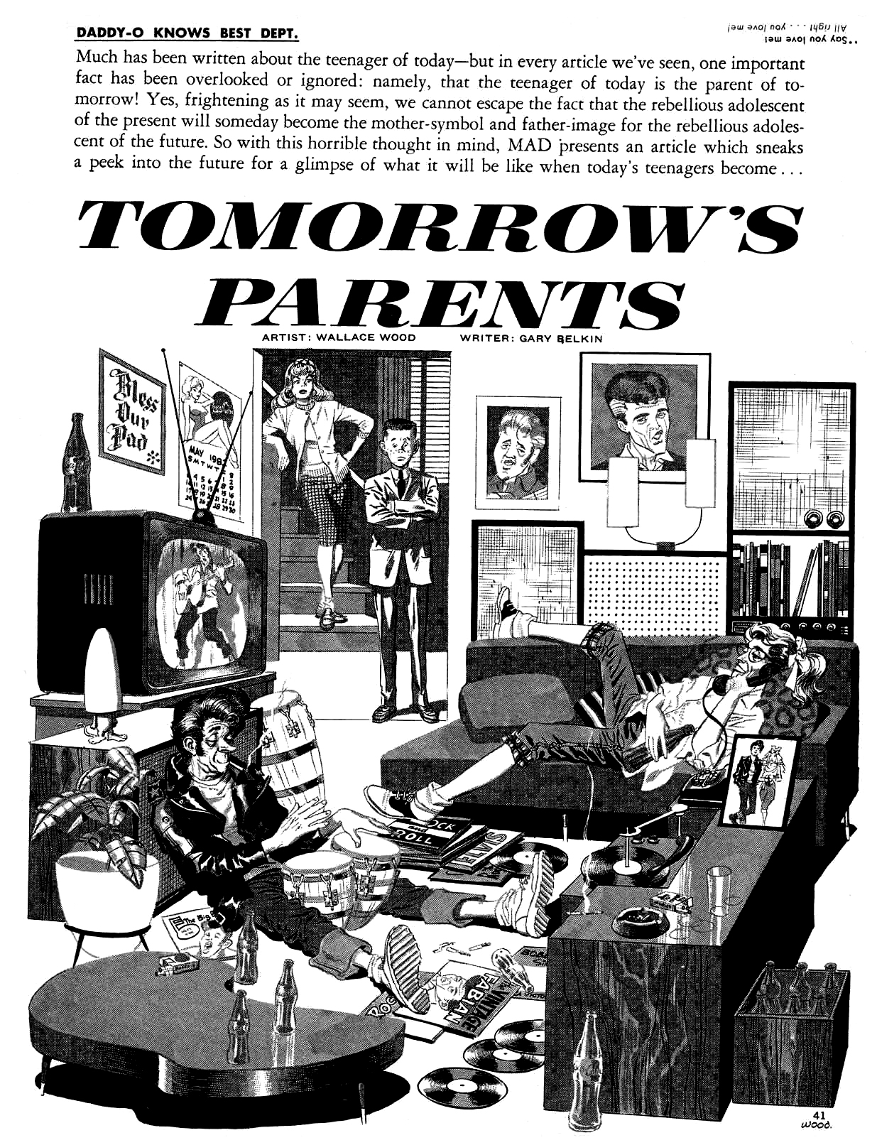 Mad Magazine #62 Tomorrow's parents – Wallace Wood